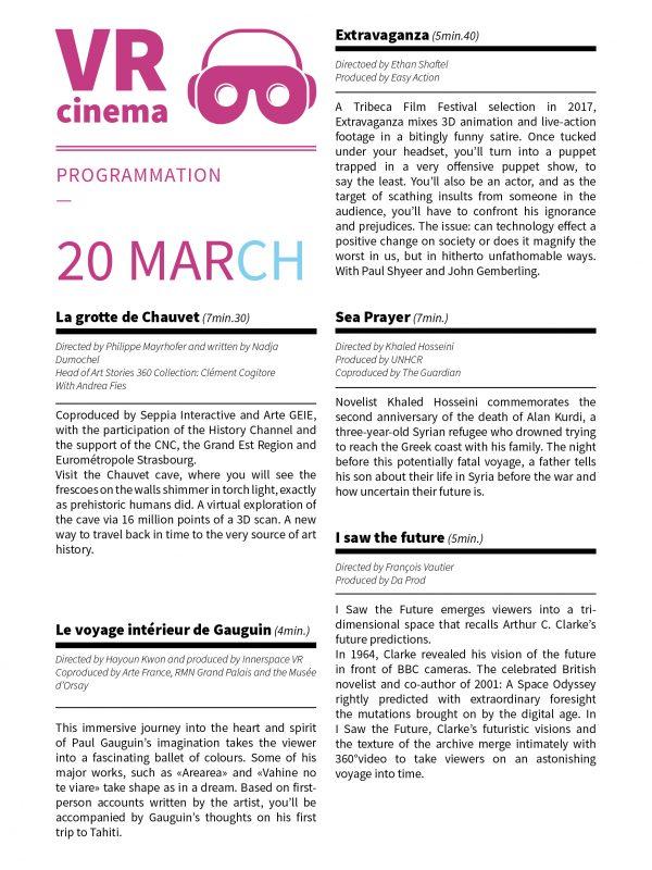 VR cinema - 20 mars EN