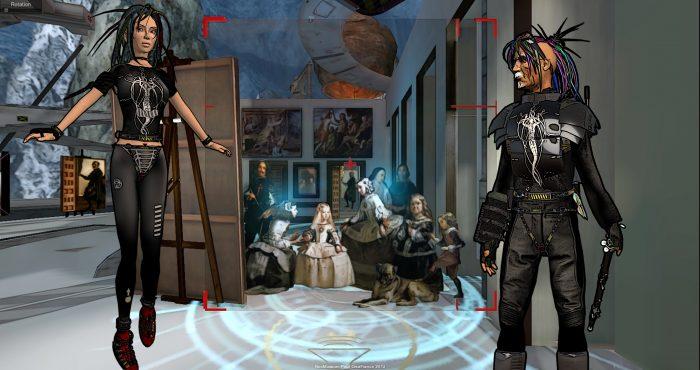 NooGalerie Menines  decembre 2012 Decomposition en 3D du tableau des Menines de Velasquez Et Avatars de Yann Minh dans second life. NooNaute outlander et YT.  http://www.noomuseum.net