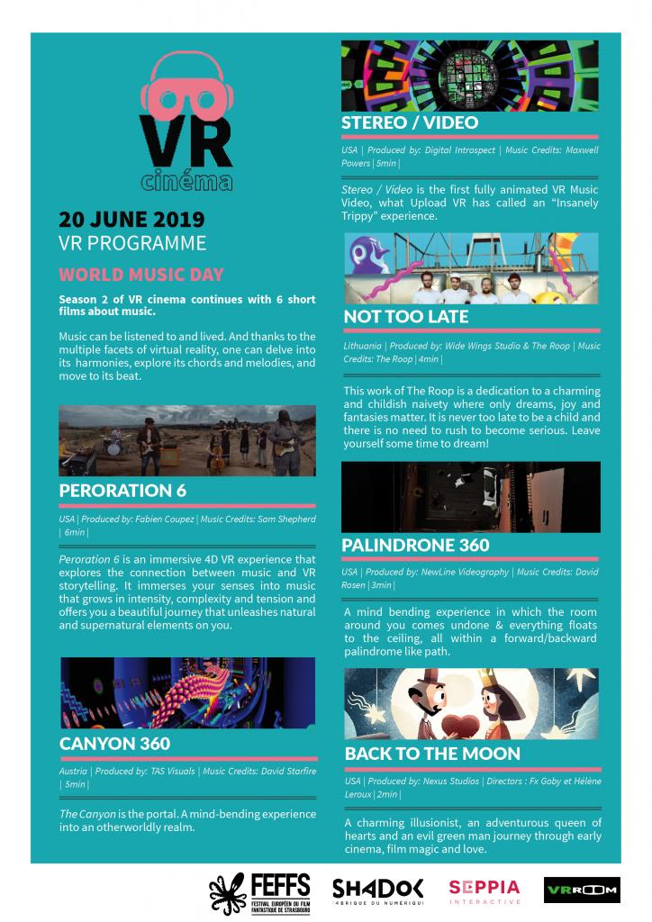 Screening times on 20 June – FEFFS